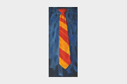 Red & Orange Stripped Tie
